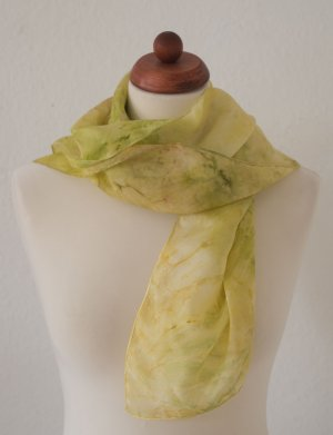 Silk Cloth sand brown-neon yellow silk