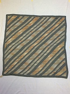 Seidentuch Loredano Vintage Tuch Seidenchiffon Streifen