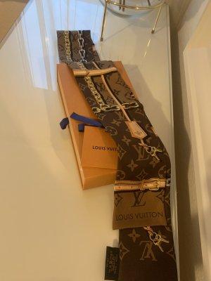 Louis Vuitton Zijden doek bruin-brons
