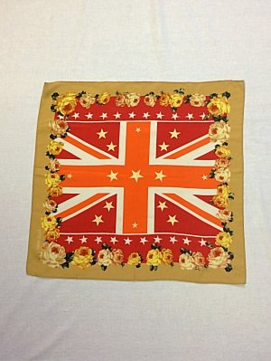 Seidentuch Otto Kern Union Jack and Flowers