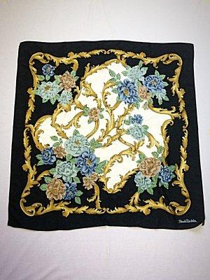 Seidentuch Renato Balestra Vintage Tuch Seide Floral Folklore