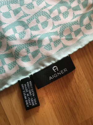 Aigner Silk Cloth turquoise-natural white silk
