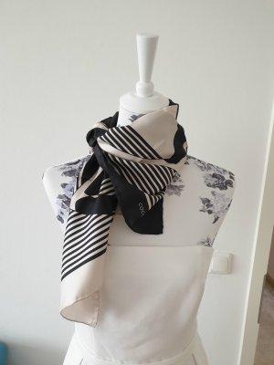 Coccinelle Bufanda de seda blanco-negro