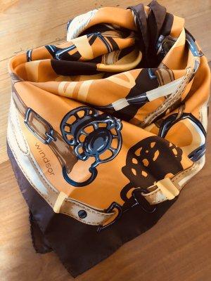 Windsor Zijden doek bruin-oranje