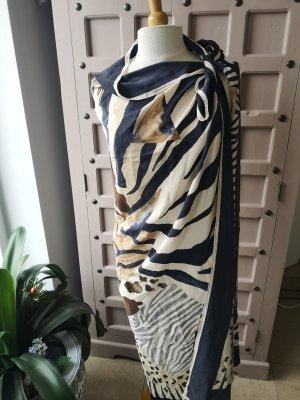 Foulard en soie noir-beige clair