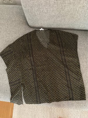 Lala Berlin Silk Top ocher-black