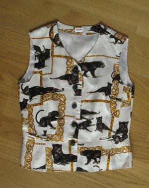 Otto Kern Smanicato jeans bianco-nero Seta