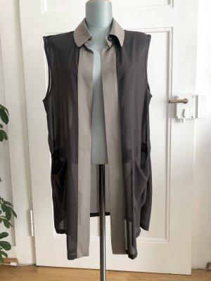 Allegri Długi sweter bez rękawów szaro-brązowy-szaro-zielony