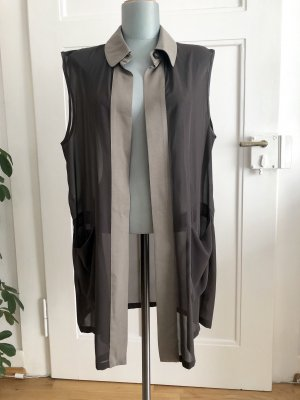 Allegri Long Cardigan grey brown-sage green