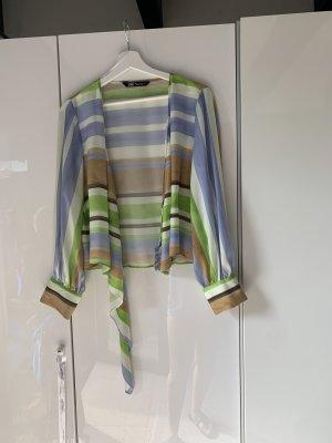 Zara Kopertowa bluzka Wielokolorowy