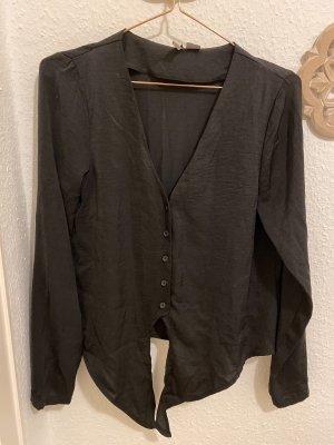 H&M Divided Glanzende blouse zwart