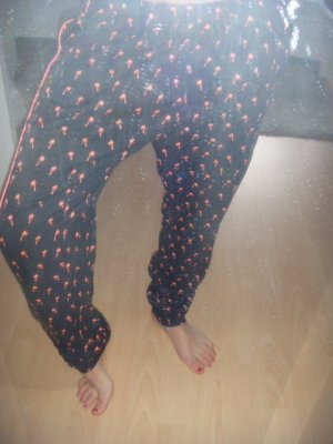 Maison Scotch Baggy Pants black-pink polyester