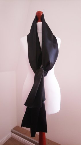 Chal negro tejido mezclado