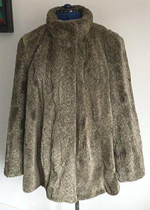 Fur Jacket dark grey-green grey polyester