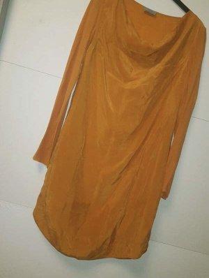 seidiges Kleid Gelb
