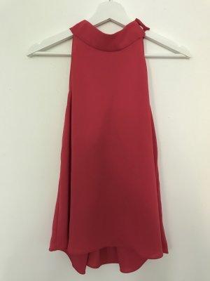 Zara Basic Top z dekoltem typu halter magenta