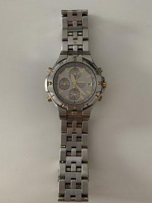Seiko Zegarek z metalowym paskiem srebrny-złoto