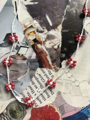 handmade Naszyjnik z perłami Wielokolorowy