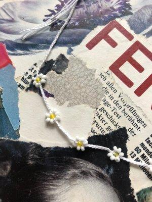 handmade Naszyjnik z perłami biały-bladożółty