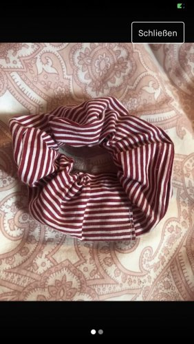 Haarband wit-donkerrood