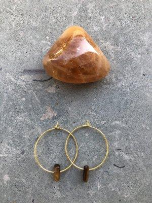 handmade Créoles doré-brun