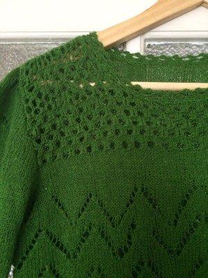 Handmade Top en maille crochet multicolore coton