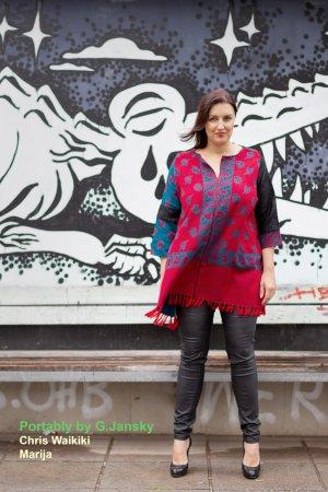 Sukienka typu babydoll Wielokolorowy Tkanina z mieszanych włókien