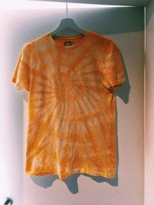Batik shirt geel-wit