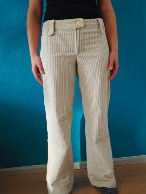 Selbst genäht Pantalone di velluto a coste crema Cotone