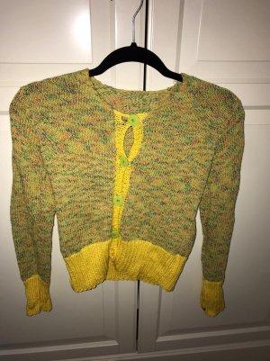 Cardigan en crochet multicolore