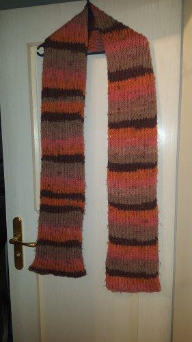 Handmade Crochet Scarf orange-dark orange