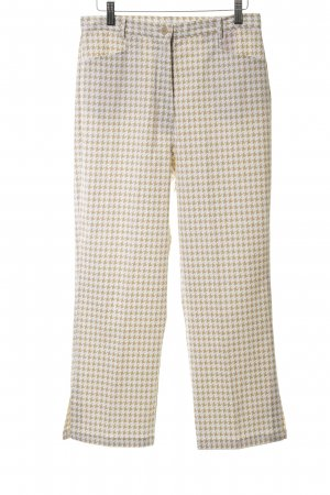 Select Stoffhose wollweiß-camel Karomuster Casual-Look