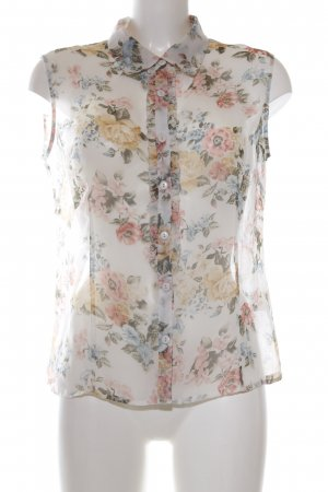 Select Transparenz-Bluse Blumenmuster Casual-Look