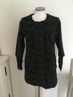 Selecte by Nancy Yau Mantel Jacke Spitze  schwarz grün khaki oliv 36 S 38 M