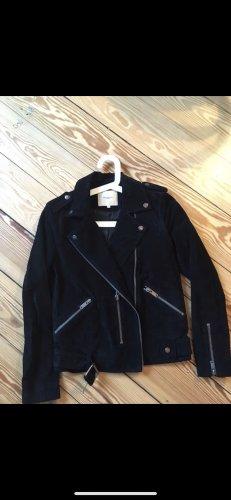 Selected Bikerjacke aus schwarzem Leder