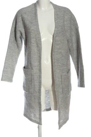 Selected Cárdigan gris claro moteado elegante