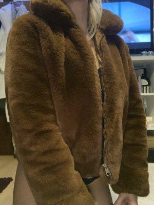 Selected Giacca di pelliccia marrone