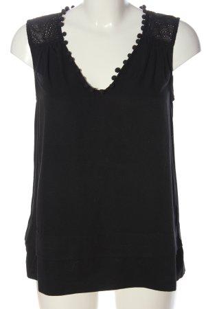 Selected Femme ärmellose Bluse schwarz Casual-Look