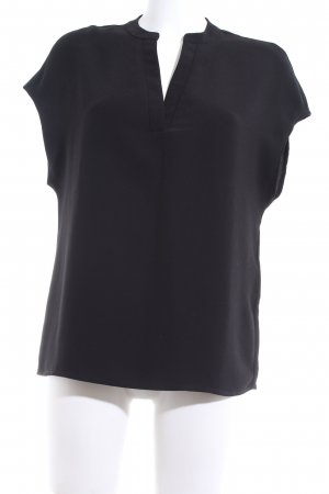 Selected Femme ärmellose Bluse schwarz Business-Look