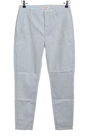 Selected Femme Baggy Pants blau-weiß Streifenmuster Casual-Look