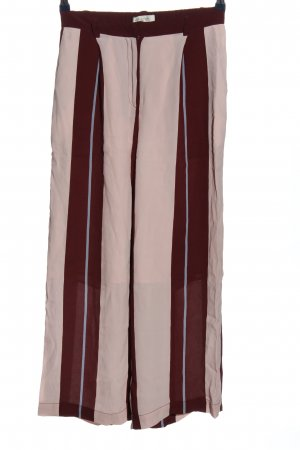 Selected Femme Baggy Pants rot-pink Streifenmuster Casual-Look