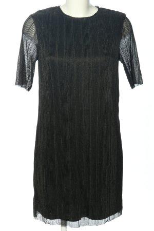 Selected Femme Blusenkleid schwarz Glanz-Optik
