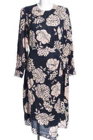 Selected Femme Blusenkleid schwarz-wollweiß Allover-Druck Elegant