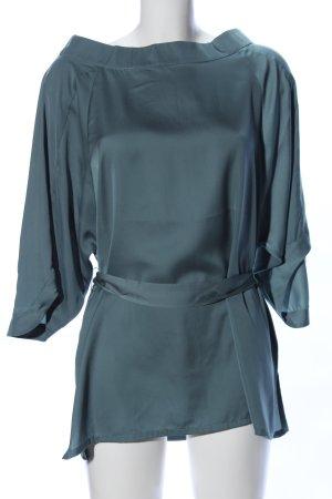 Selected Femme Blusa alla Carmen verde elegante