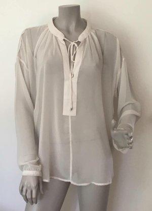 Selected Femme Chiffon Tunika Bluse MARIOLA Polyester creme Gr. 40