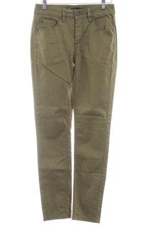 Selected Femme Five-Pocket-Hose olivgrün Casual-Look