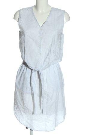 Selected Femme Hemdblusenkleid weiß-blau Allover-Druck Casual-Look