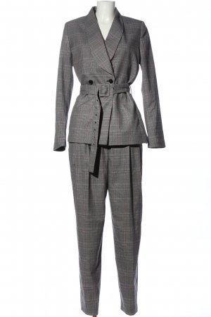 Selected Femme Trouser Suit check pattern business style