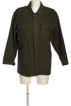 Selected Femme Spijkerjack khaki casual uitstraling