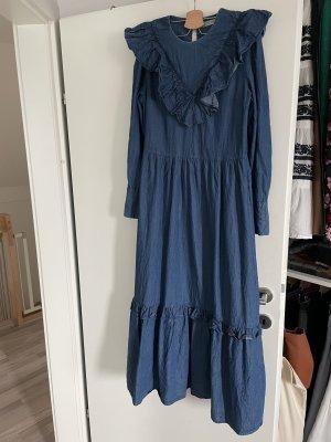 Selected Femme Denim Dress blue cotton